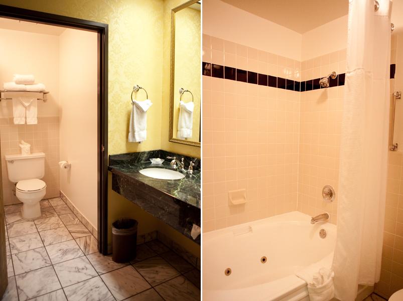 Split Bathroom With Whirlpool Tub