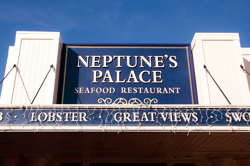Neptune's Palace restaurant on Pier 39 in San Francisco California