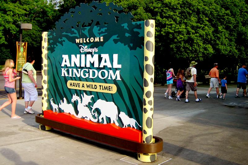 Entrance to Animal Kingdom in Orlando, FL.  Brownie Bites - Travels & Experiences of Matt & Erin Browne