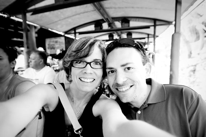 Matt & Erin waiting to begin the Kilimanjaro Safari.  Brownie Bites - Travels & Experiences of Matt & Erin Browne