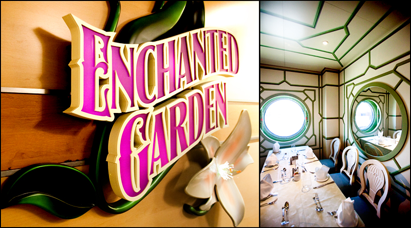 Lunch buffet at Enchanted Garden on the Disney Dream