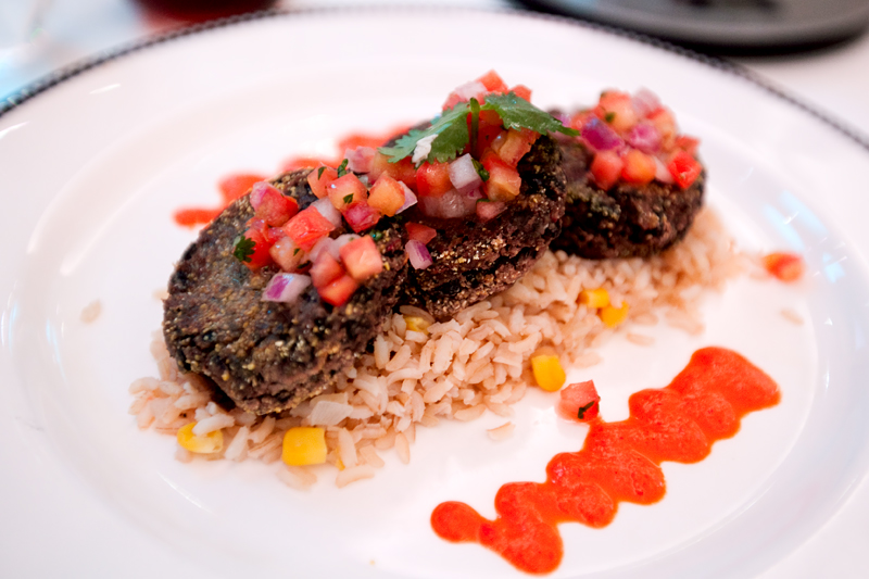 Black Bean Chipotle Cakes at Animator's Palate