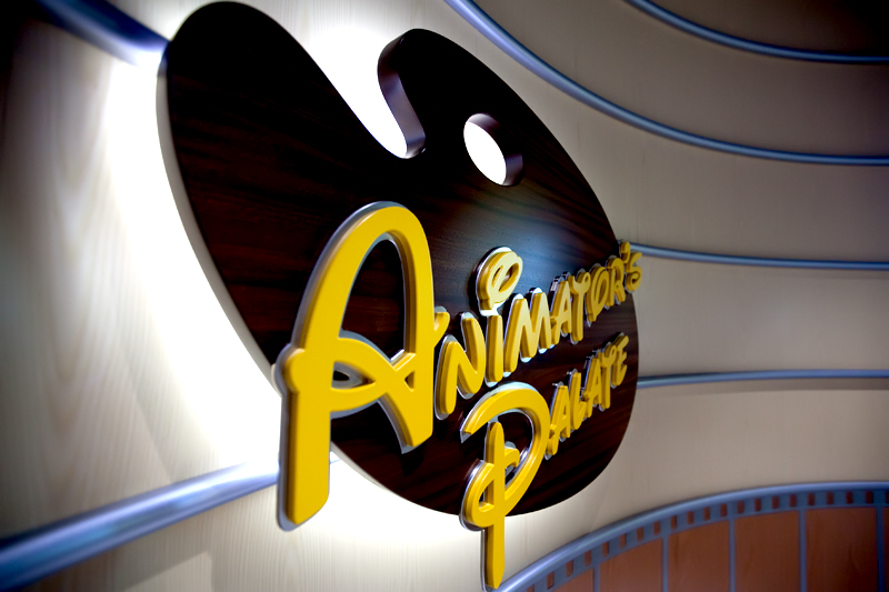 Animator's Palate sign on the Disney Dream