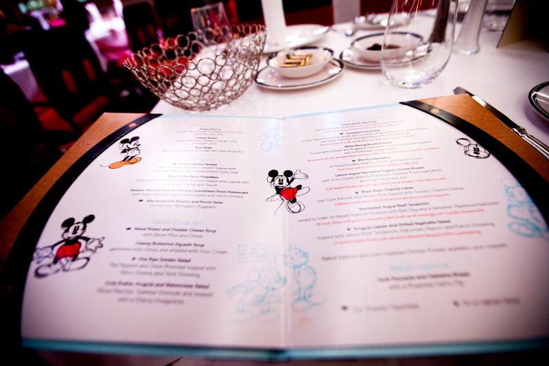 Animator's Palate menu on Disney Dream