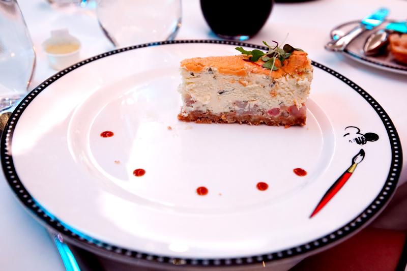 Sesame Rock Shrimp and Caramelized Onion Cheesecake at Animator's Palate