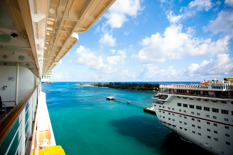 View from Disney Cruise Balcony at Nassau