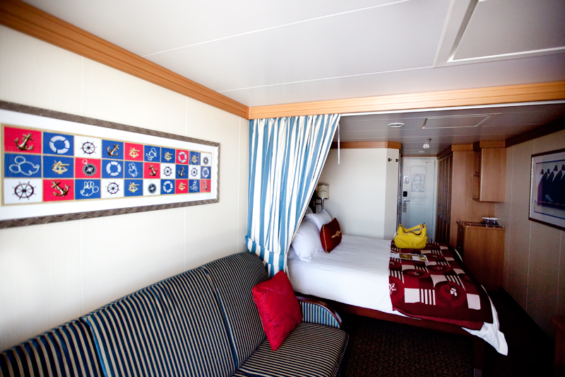 Stateroom aboard the Disney Dream