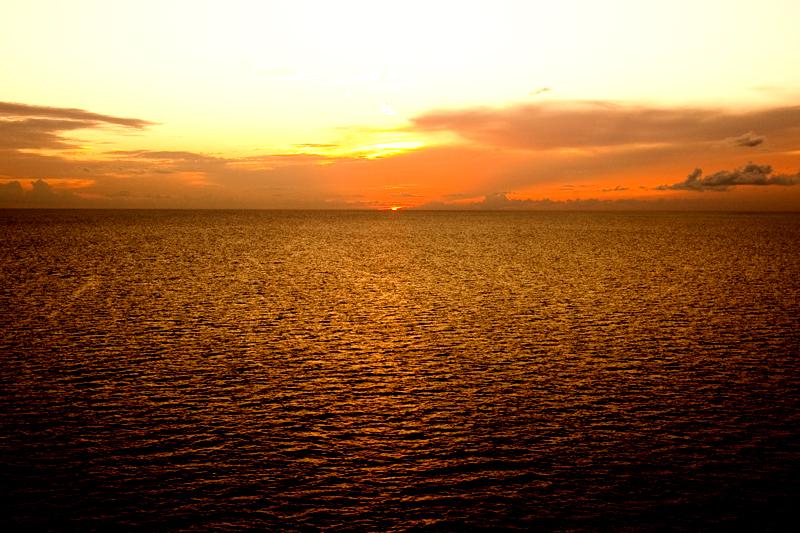 Sunset on the Disney Dream