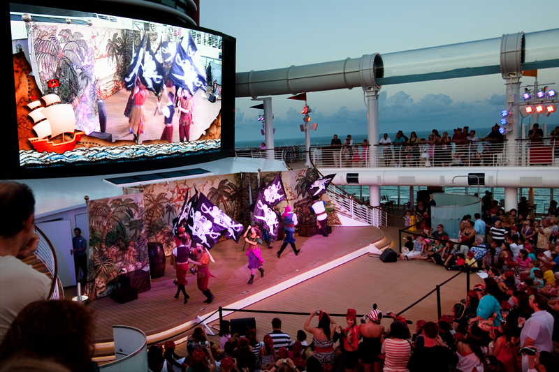 Pirate Club Show on Pool Deck on the Disney Dream