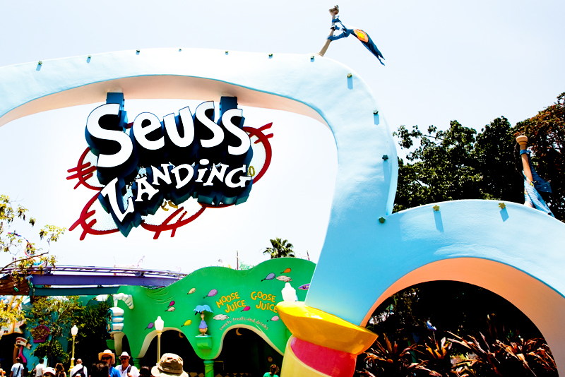 Seuss Landing sign in Islands of Adventure