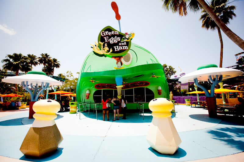 Green Eggs and Ham cafe - Seuss Landing in Islands of Adventure