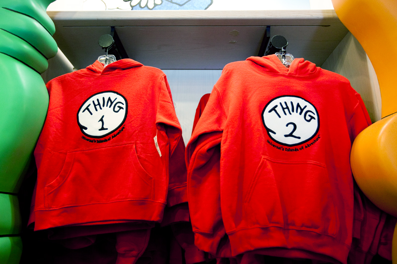 Thing 1 and Thing 2 shirts - Seuss Landing in Islands of Adventure