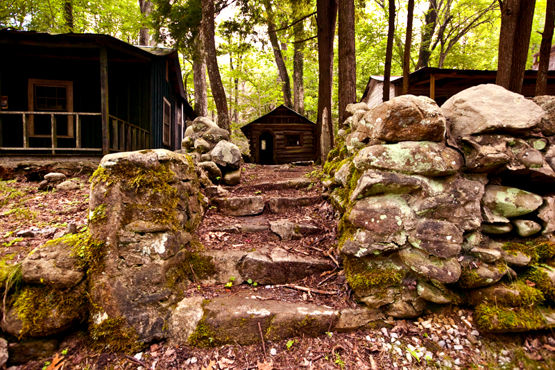 Elkmont Campground in the Smoky Mountains of Tennessee