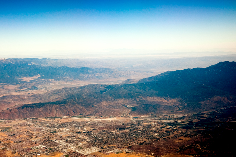 Cruising over Southern California in A Boeing 737.