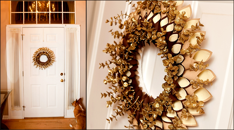 How to make a paper wreath for Christmas