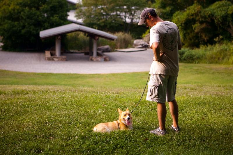 Remington and Dash at Ijams Nature Center