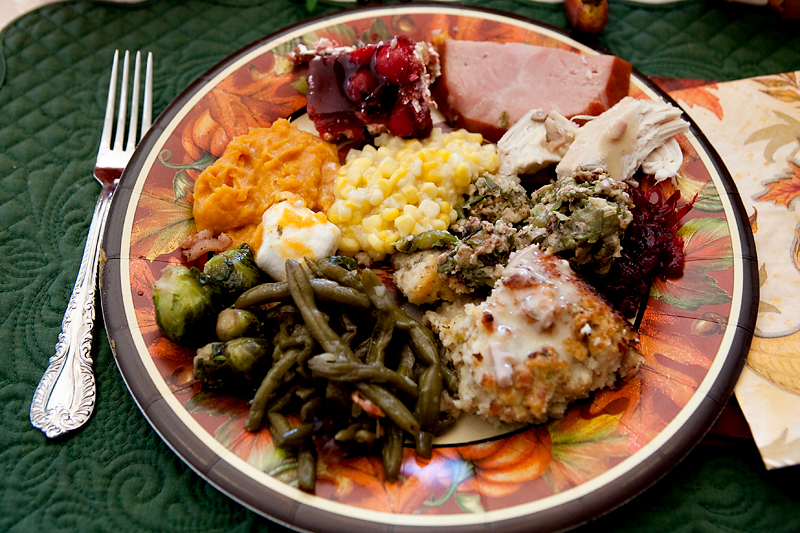 Photos of Thanksgiving dinner