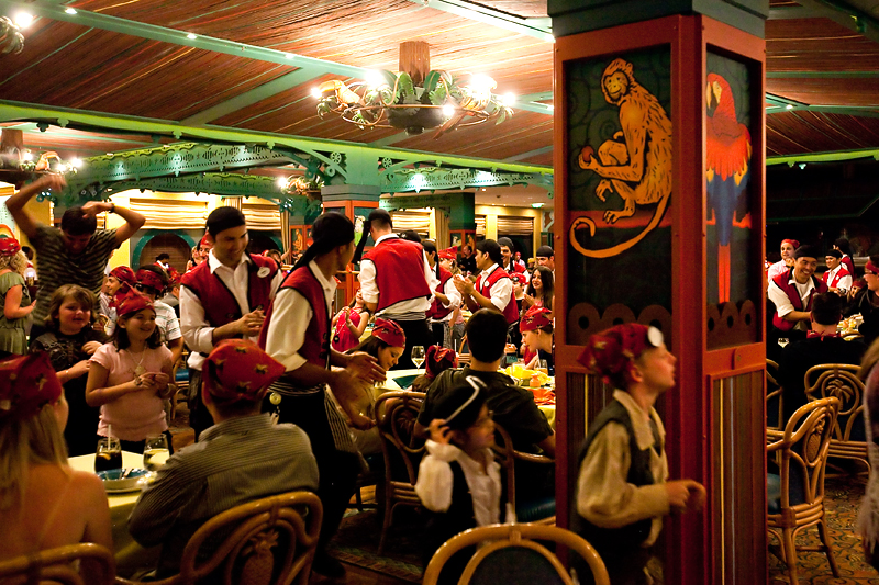 Pirate night dinner aboard the Disney Magic Cruise Ship