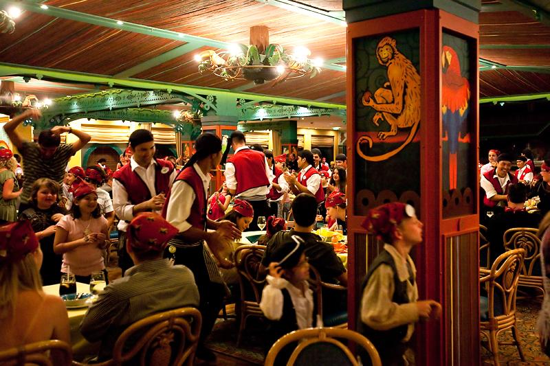 Pirate night dinner aboard the Disney Magic Cruise Ship