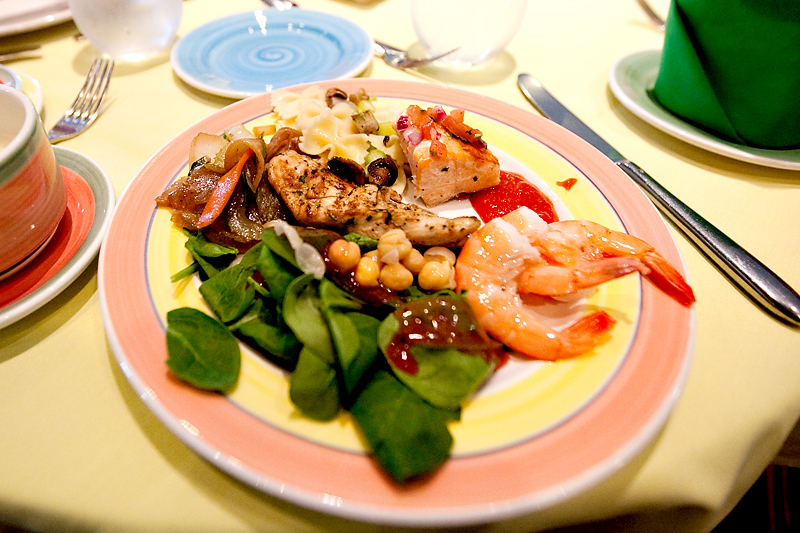 Lunch Menu at Parrot Cay on the Disney Magic