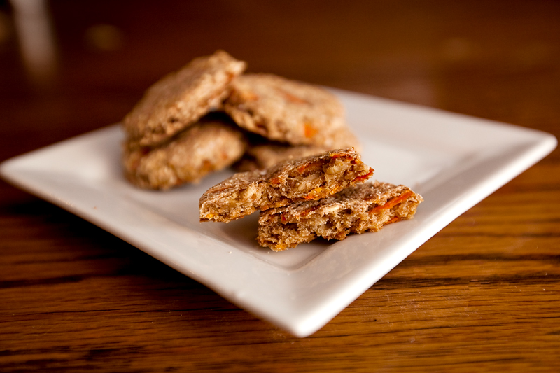 Apple and Carrot homemade dog biscuits.