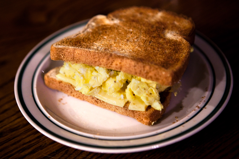 Pre-hike Egg Sandwich