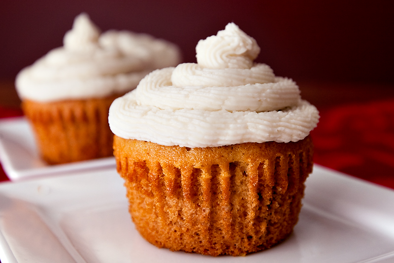 Maple Walnut Cupcake recipe with vanilla buttercream