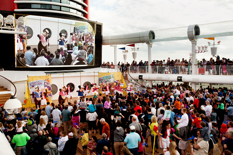 Sailing Away party on the Disney Fantasy Cruise