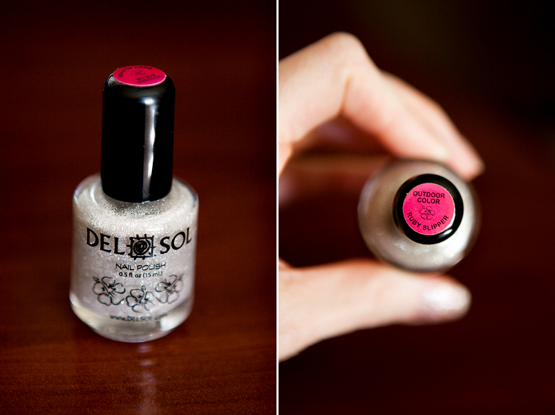 Del Sol Ruby Slipper Nail Polish Swatch