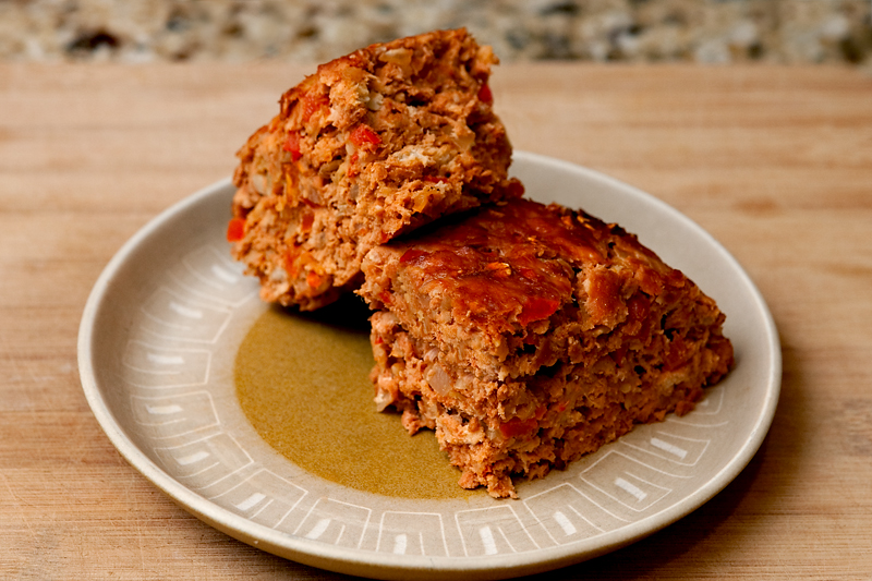 Ground Turkey Meatloaf with Red Bell Pepper and Onion