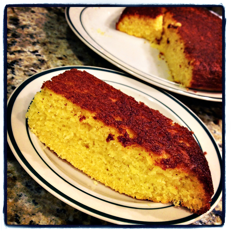 Homemade sweet cornbread