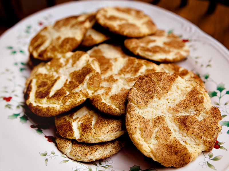 Recipe for Snickerdoodles or cinnamon sugar cookies