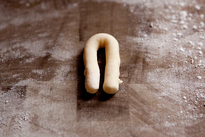hand-shaped greek easter cookies