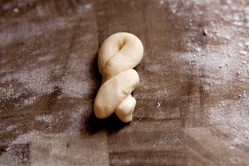 hand-shaped greek easter cookies