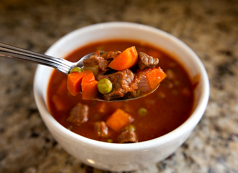 Homemade vegetable beef stew