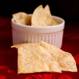 Homemade Baked Ranch Tortilla Chips