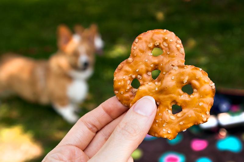 salty pretzel crisps