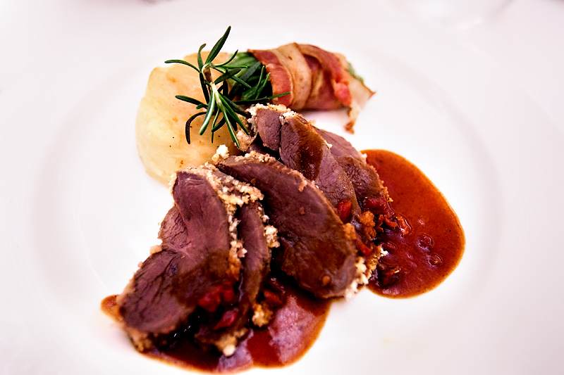 garlic and rosemary lamb sirloin on a Disney cruise