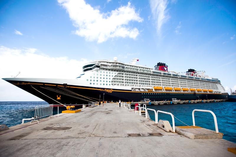 Disney Fantasy ship docked at Cozumel