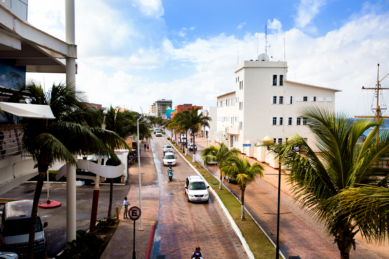 a typical street scene in Cozumel