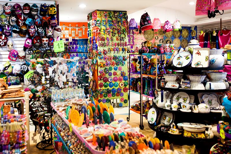 souvenir shop in Cozumel