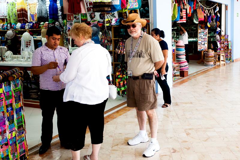 street vendor in cozumel