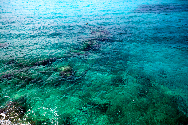color of the water in cozumel