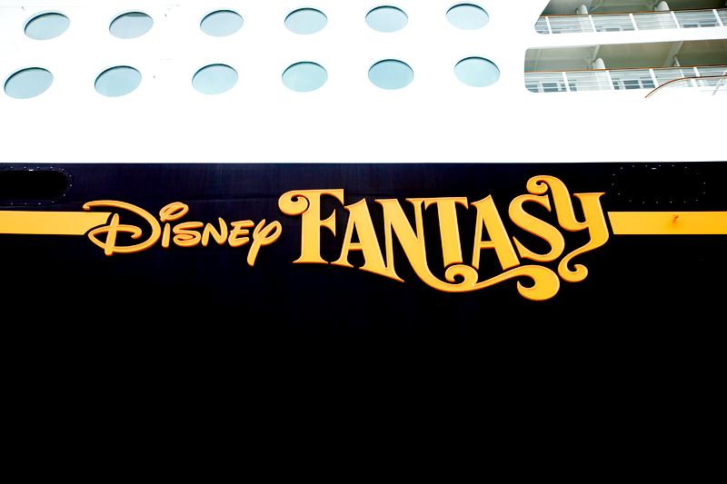 disney fantasy sign on the ship
