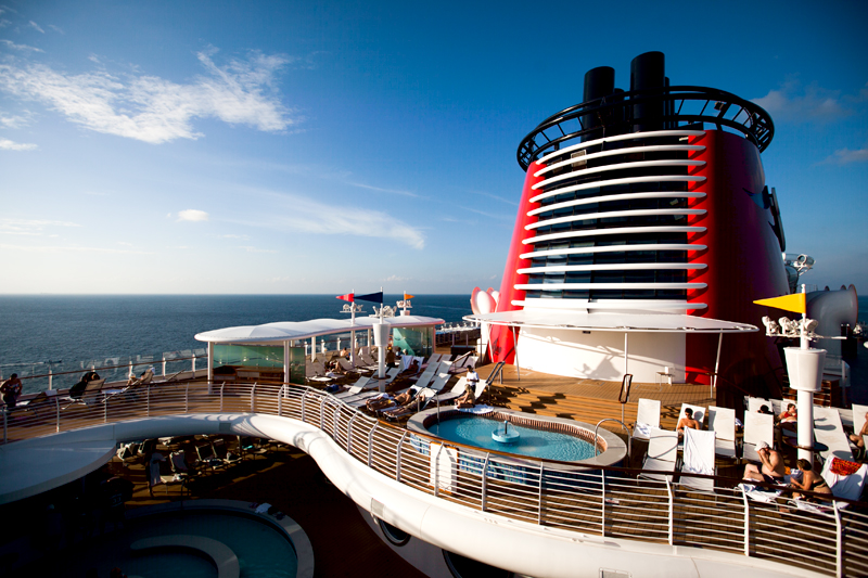 adult pool deck on the disney fantasy