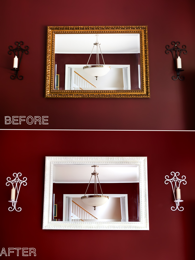repainting a mirror picture frame tutorial 01. Black Bedroom Furniture Sets. Home Design Ideas