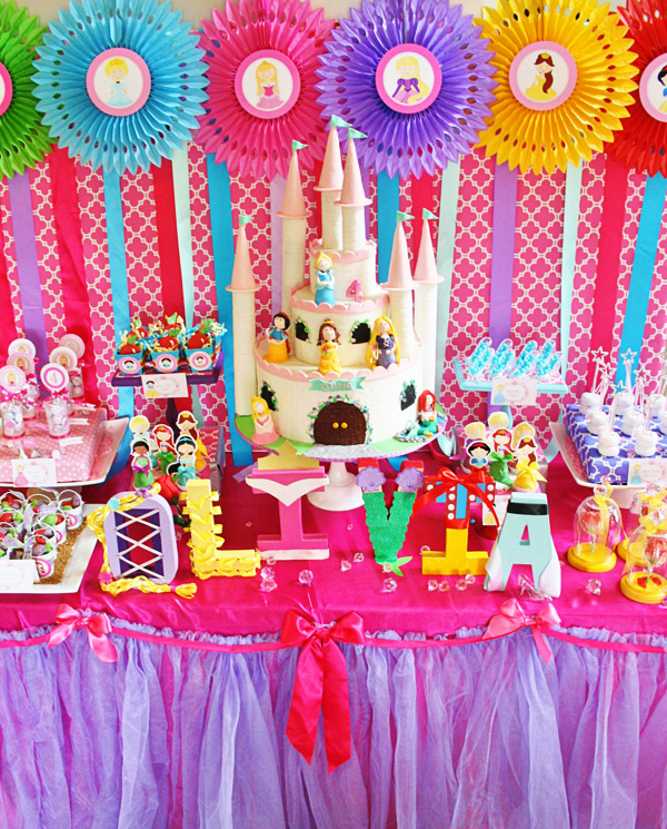 Pastel Princess Party with So Many Darling Ideas via Kara ... |Princess Birthday