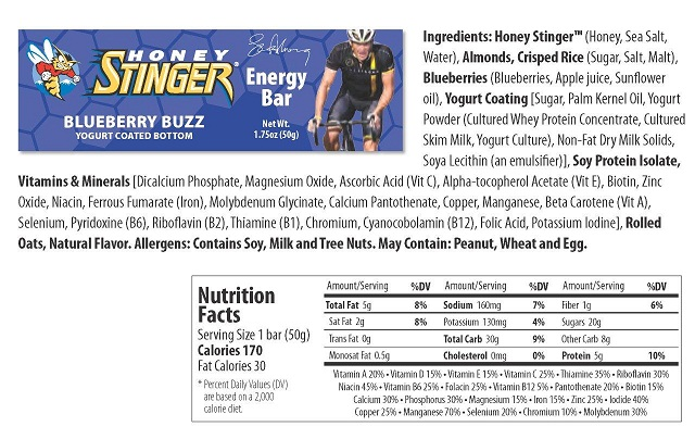 honey-stinger-blueberry-buzz-energy-bar-nutrition