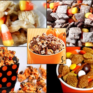Five Halloween Snack Mixes