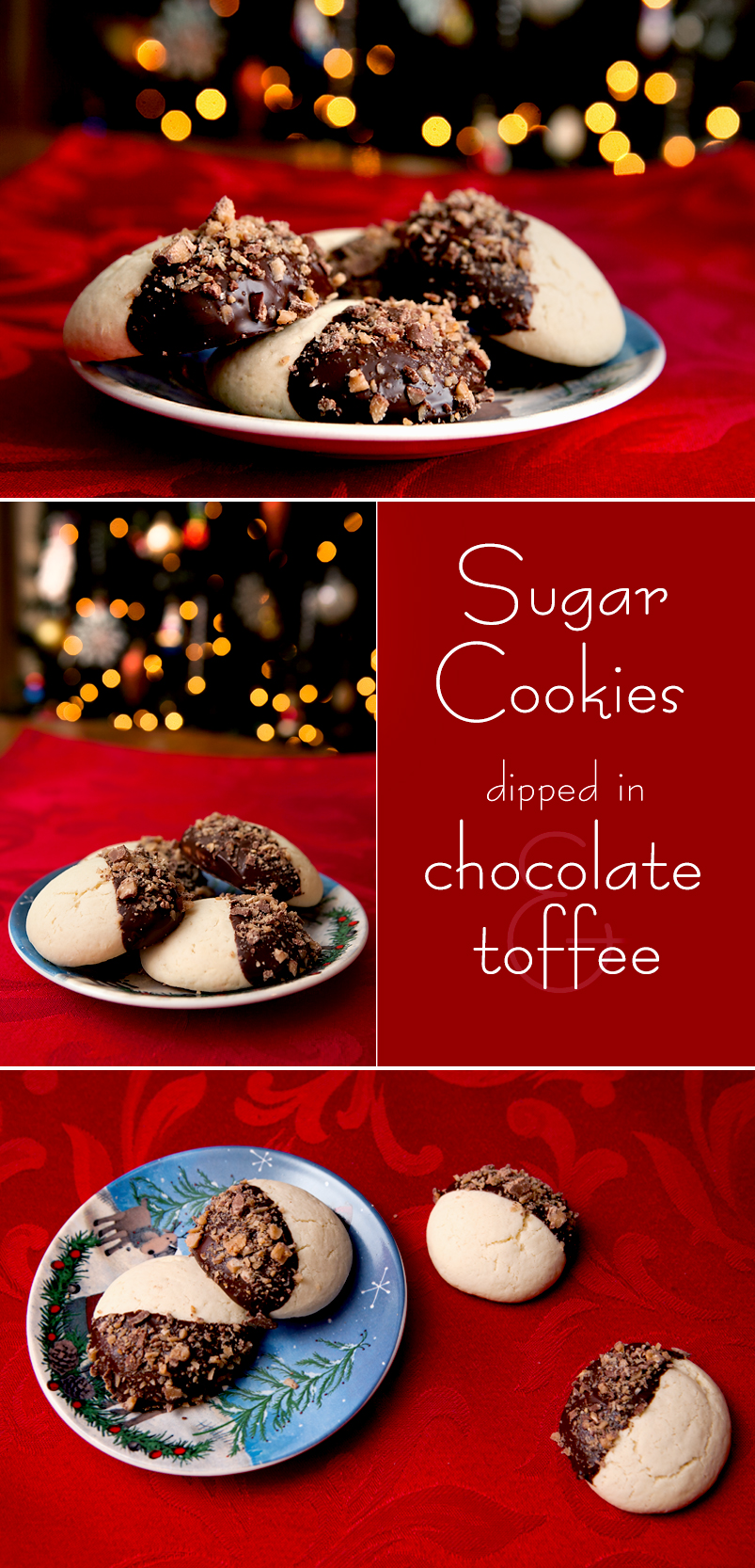 thick-soft-sugar-cookies-dipped-chocolate-toffee-pinterest
